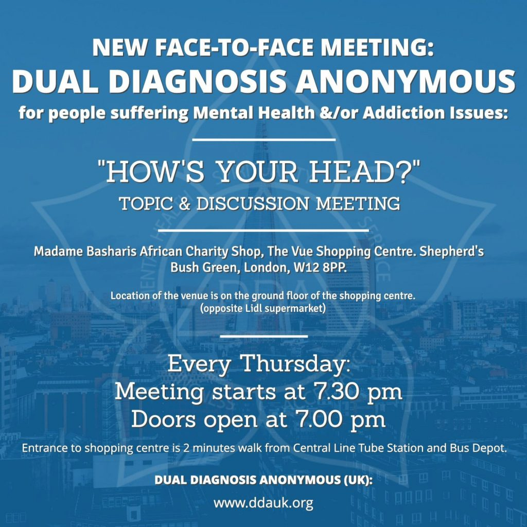 New Dual Diagnosis Anonymous Meeting (Face-to-Face)